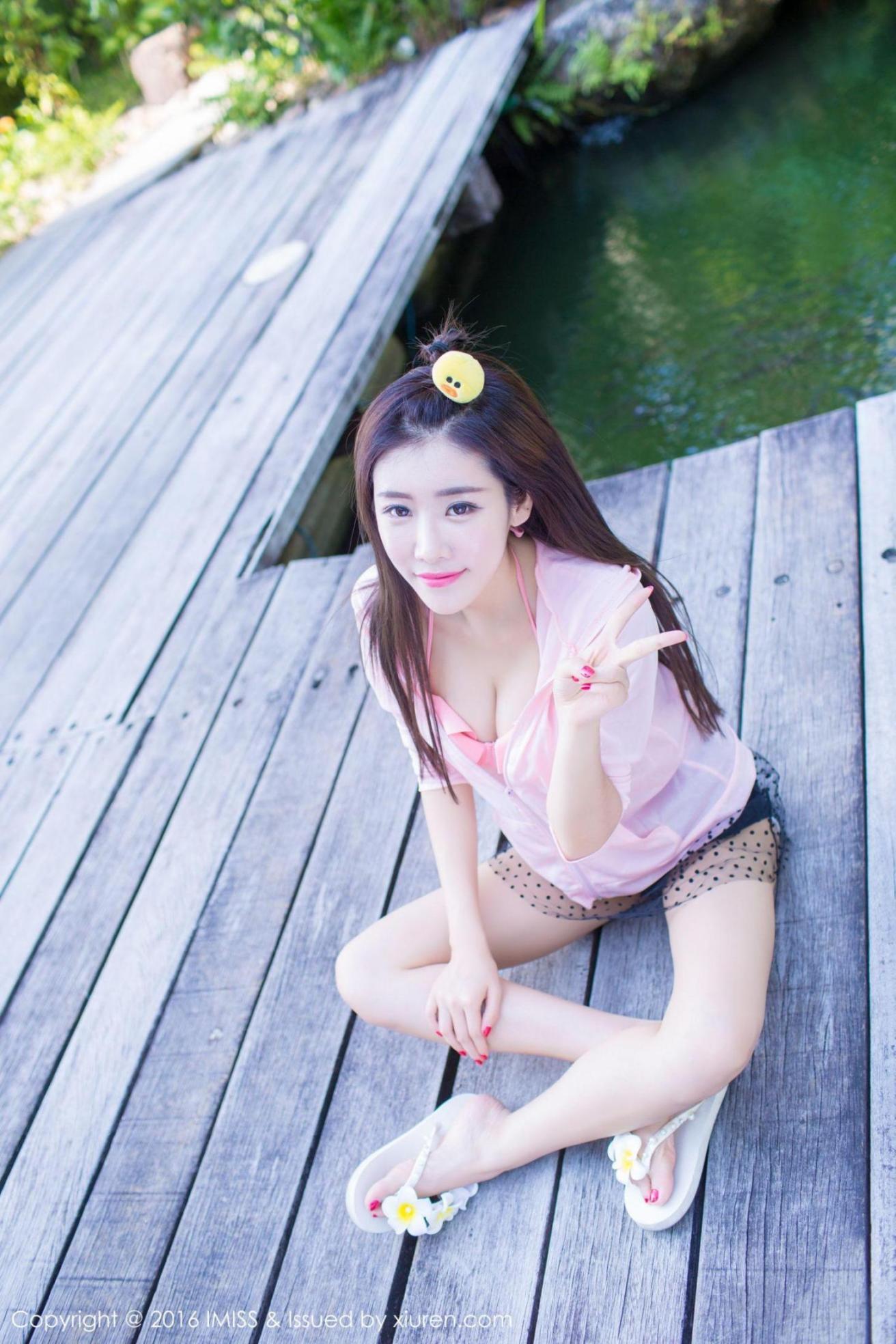 [推女神] 程小烦 粉色装扮+白色裙子外拍 高清写真套图