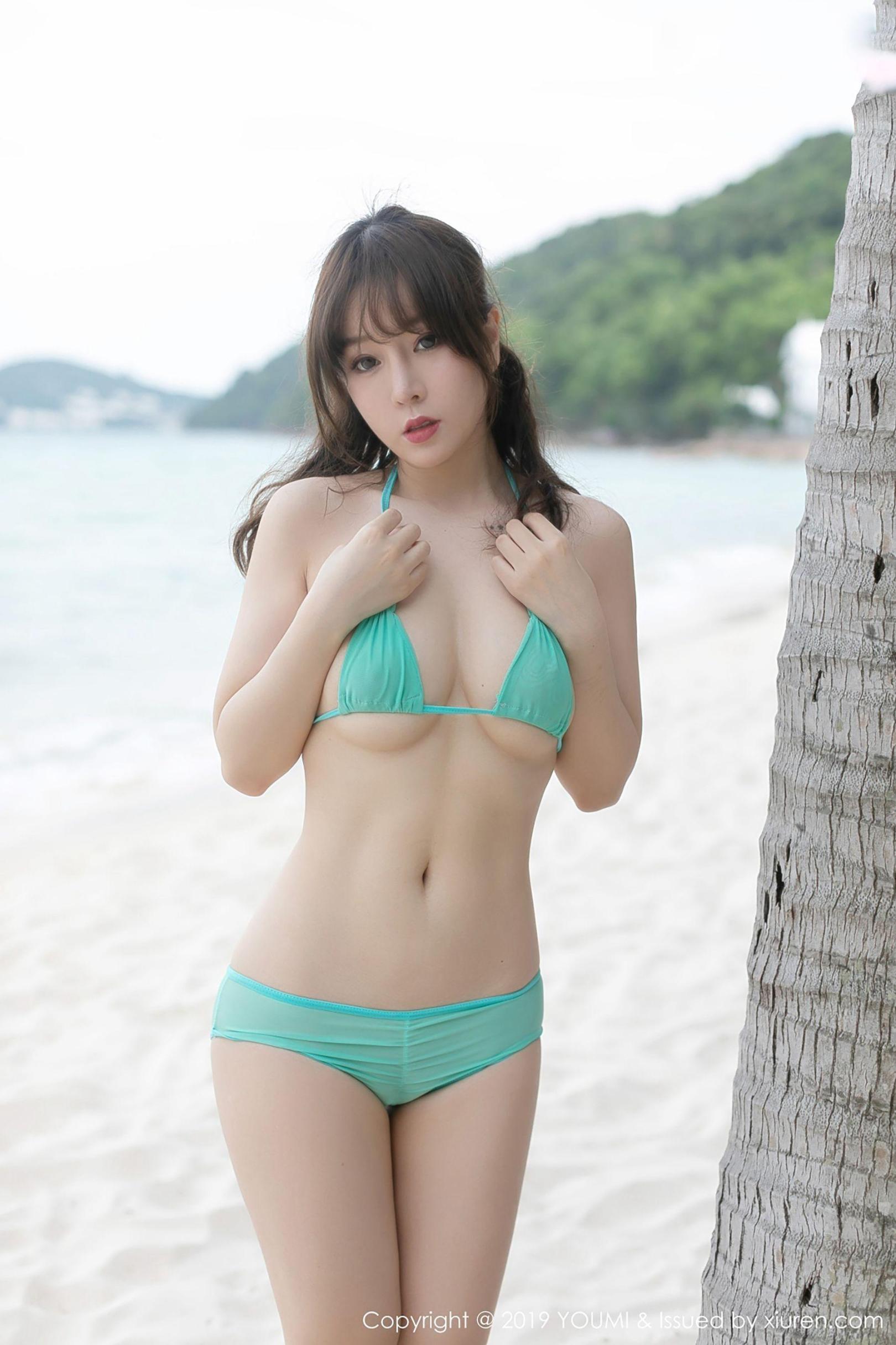 [波萝社] 王雨纯 沙滩边比基尼诱惑 高清写真套图