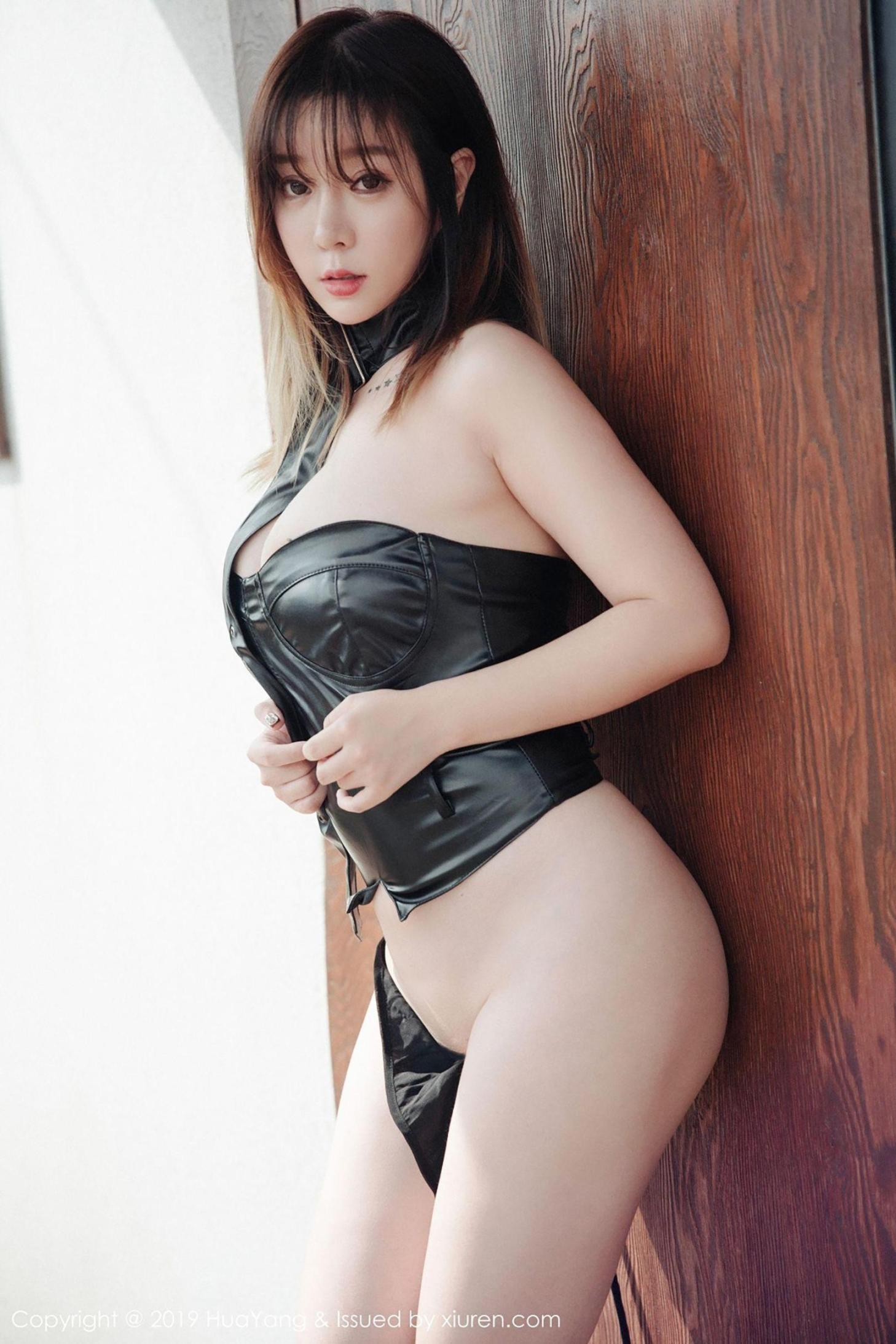 [波萝社] 王雨纯 情趣皮衣美臀 高清写真套图