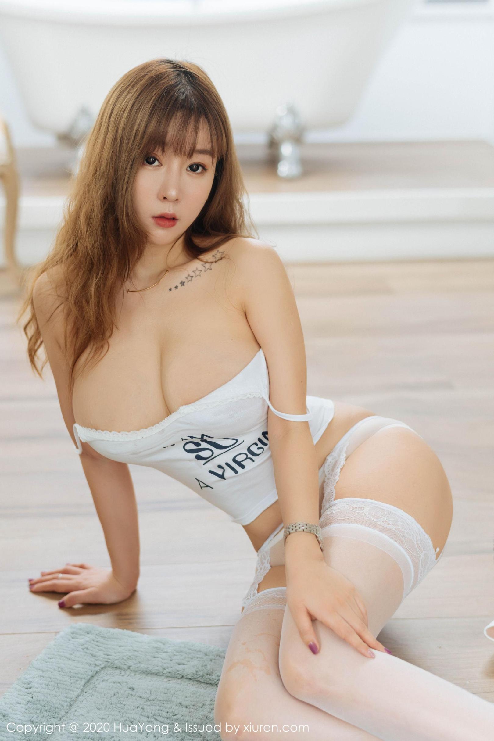 [波萝社] 王雨纯 吊带美胸+牛仔裤的美尻 高清写真套图