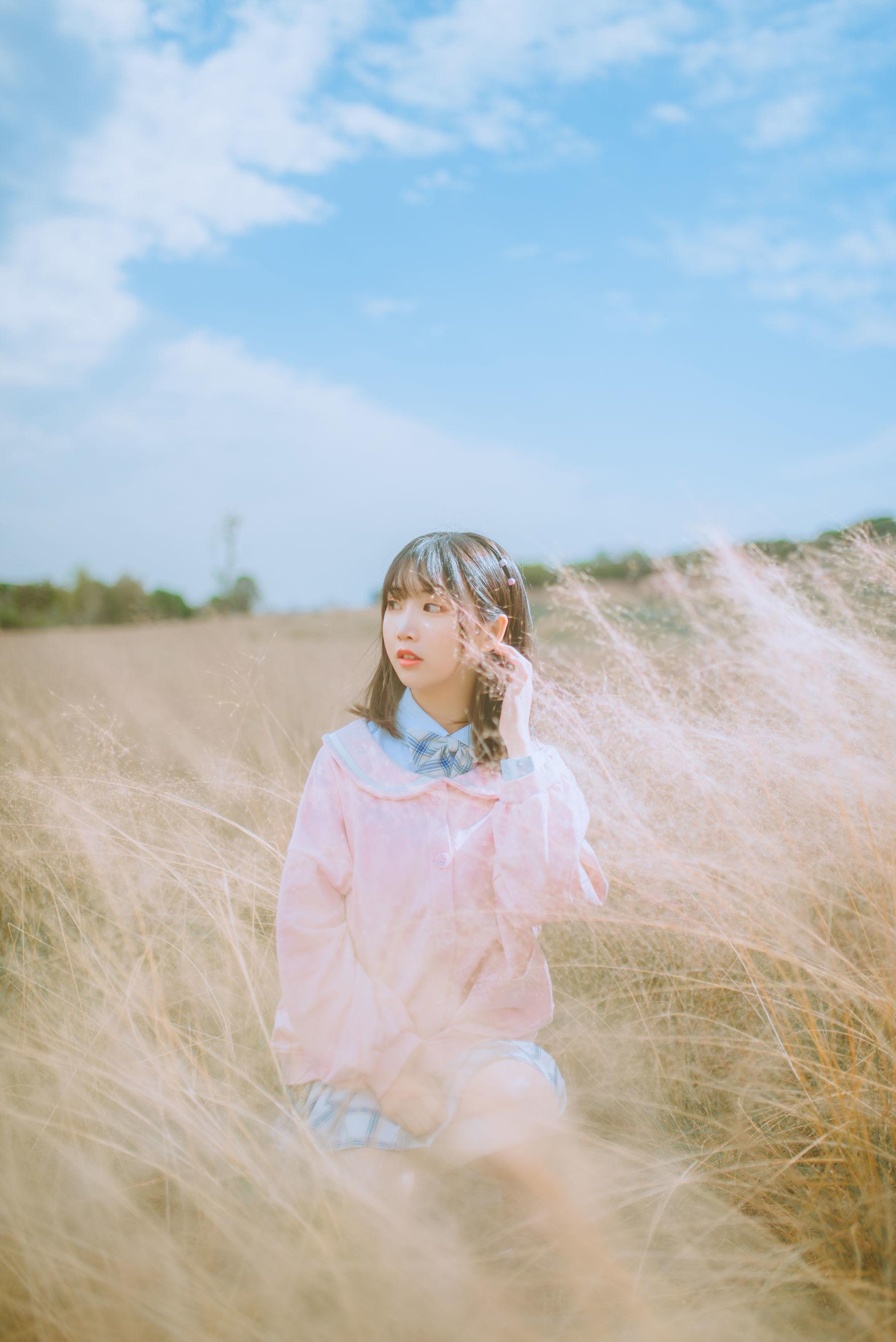 [网络美女] 面饼仙儿 粉黛草JK 高清写真套图